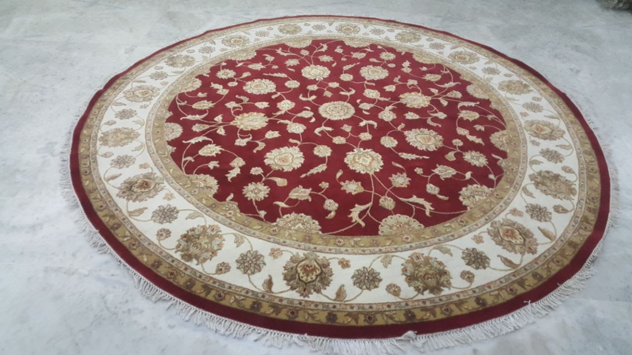 Hand Knotted Wool With REAL silk carpets